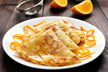 Sweet crepes pancakes