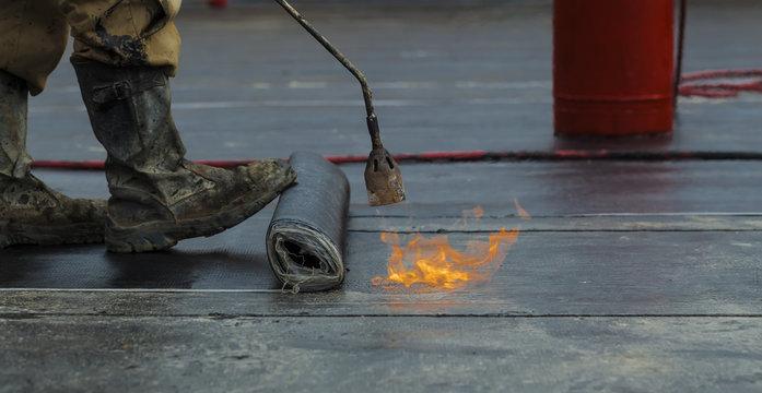 waterproofing  flame bitumen