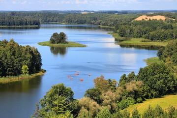Krajobraz Polski - region jezior Mazury