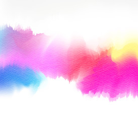 Abstract colorful watercolor for background. Digital art paintin