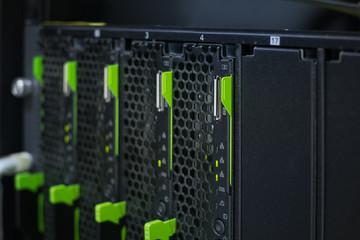 Close up blade server