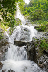 Waterfall in summer forest at  Cha Om, Kaeng Khoi District, Sara