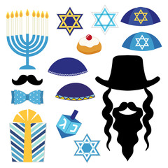 Cute photo booth props for Hanukkah. Grab a prop and strike a pose!