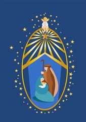 Natività con raggi e angelo