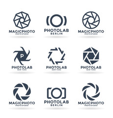 Vector icons for photographers. Photography logo design elements (9)