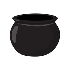 cauldron empty black vector illustration