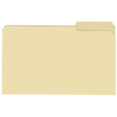 Isolated empty file folder vector illustration