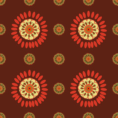 Ethnic Colorful seamless pattern.