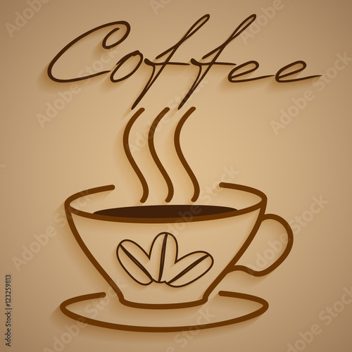 """Logo steaming Cup of coffee"" Stock image and royalty-free ..."