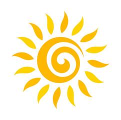 Swirl sun icon
