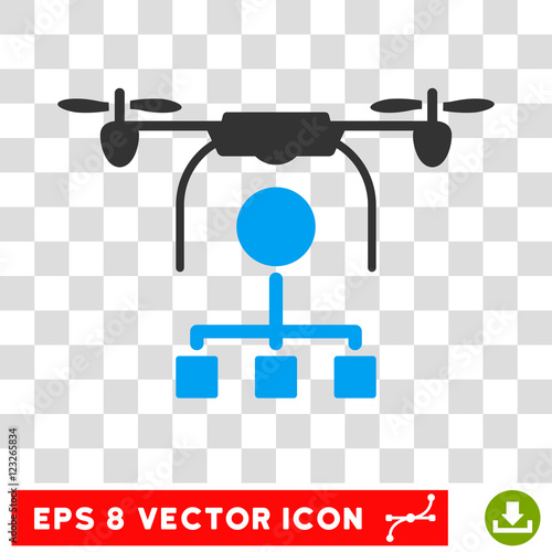 Vector Drone Distribution EPS Icon Illustration Style Is Flat Iconic Bicolor Blue And Gray