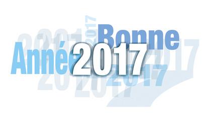 BONNE ANNÉE 2017 BLEU