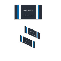 business card with company name and website.