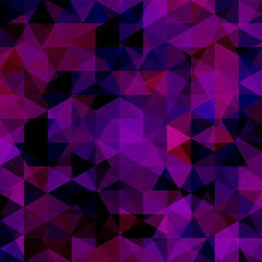 Background of geometric purple shapes. Abstract triangle geometrical background. Mosaic pattern. Vector EPS 10. Vector illustration