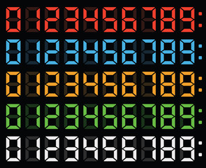 led display numbers