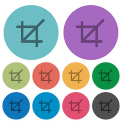 Color crop tool flat icons