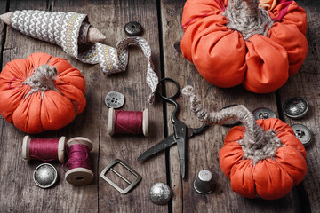 Crafts with pumpkins