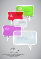 Communication bubbles, vector