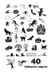 40 Halloween objects