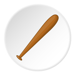 Baseball bat icon. artoon illustration of baseball bat vector icon for web