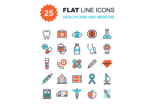 Healthcare and Medicine Icons Set 01