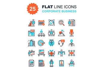 Corporate Business Icons Set