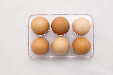 Egg Tray, Six Eggs, Full Number