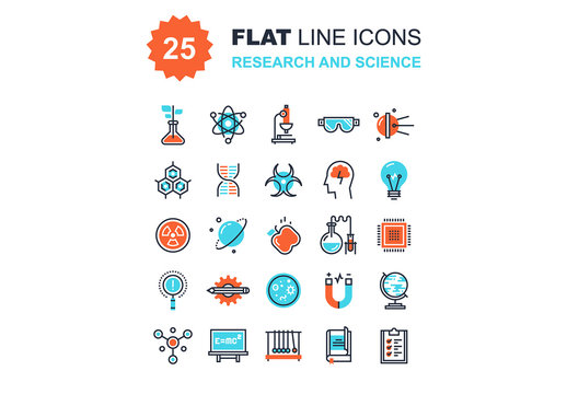 Research and Science Icons Set