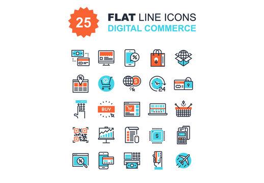 Digital Commerce Icons Set