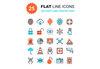 Security and Protection Icons Set