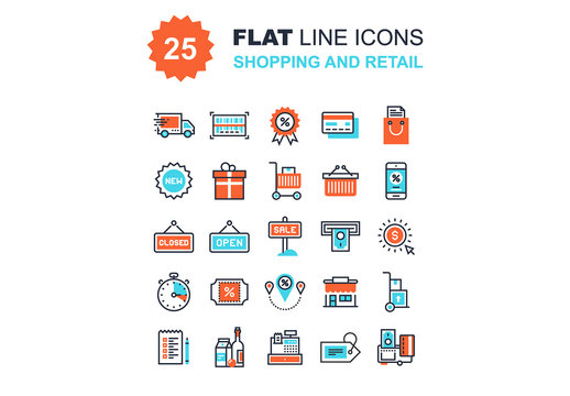 Shopping and Retail Icons Set 02