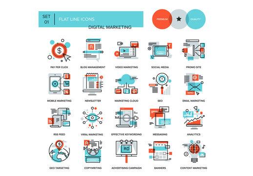 Digital Marketing Icons Set