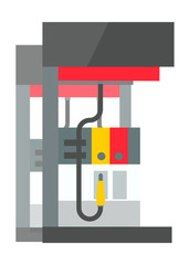 Gas station vector illustration.