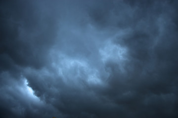 Dark and Dramatic Storm Clouds Area