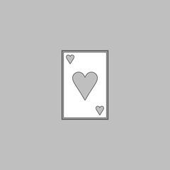 Hearts card computer symbol