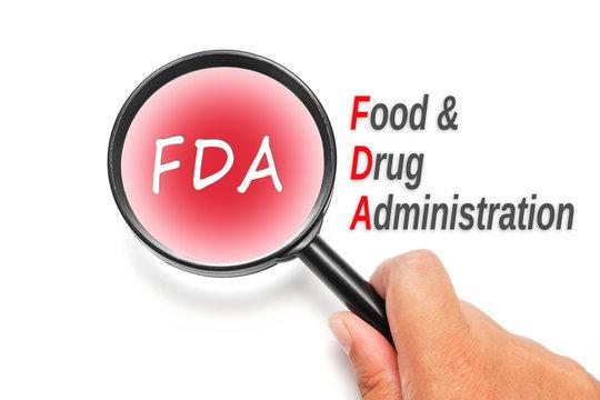 FDA, acronyms health concept