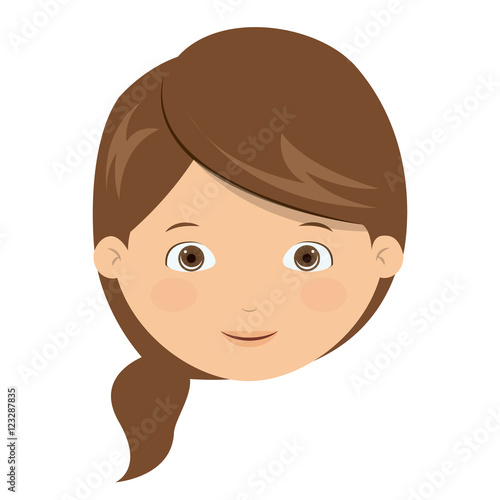 girl cartoon face icon kid child little and people theme isolated rh au fotolia com girl cartoon face images girl cartoon face sad