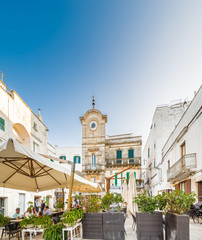 white houses of village in Apulia