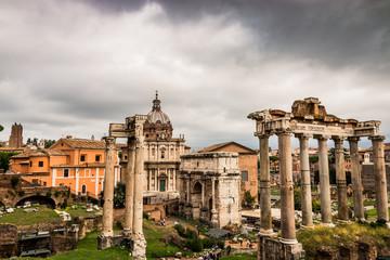 Vue sur le forum Romain de Rome