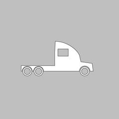 cargo truck computer symbol