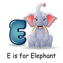 Animals alphabet: E is for Elephants
