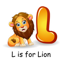 Animals alphabet: L is for Lion
