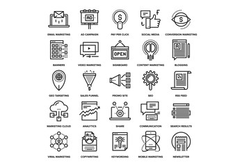 Digital Marketing Icons Set 03