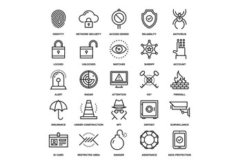 Security and Protection Icons Set 02
