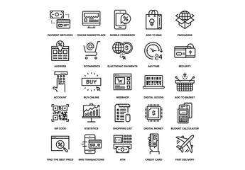 Digital Commerce Icons Set 02