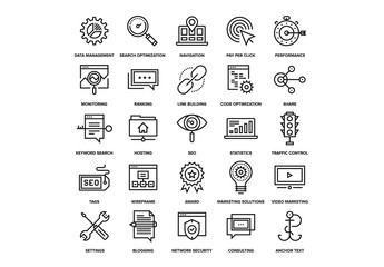 SEO and Web Icons Set 02