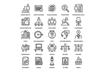 Corporate Business Icons Set 02