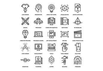 Creative Process Icons Set 02