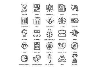 Business and Finance Icons Set 02