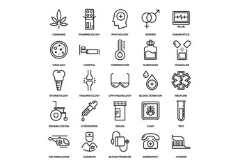 Healthcare and Medicine Icons Set 03